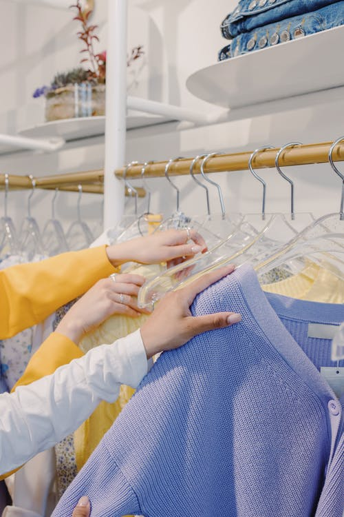 Hanging Clothes in the Clothing Rack