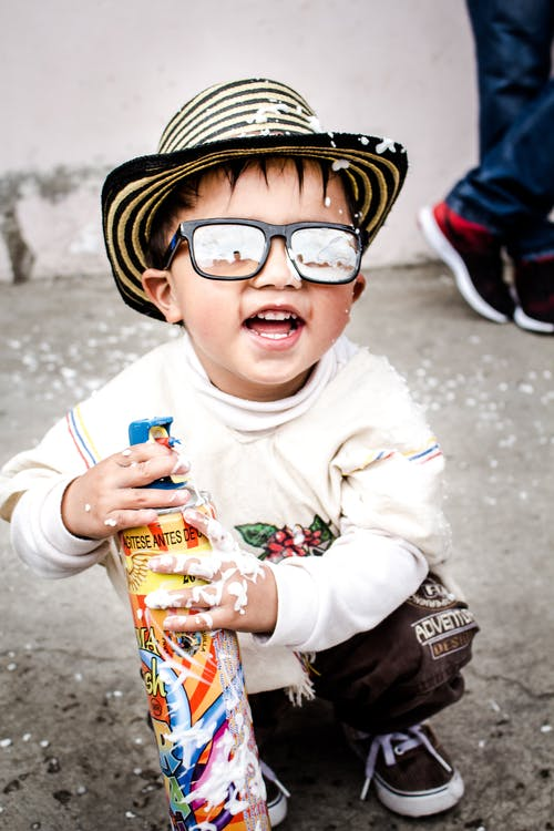 brýle, chlapec, dítě