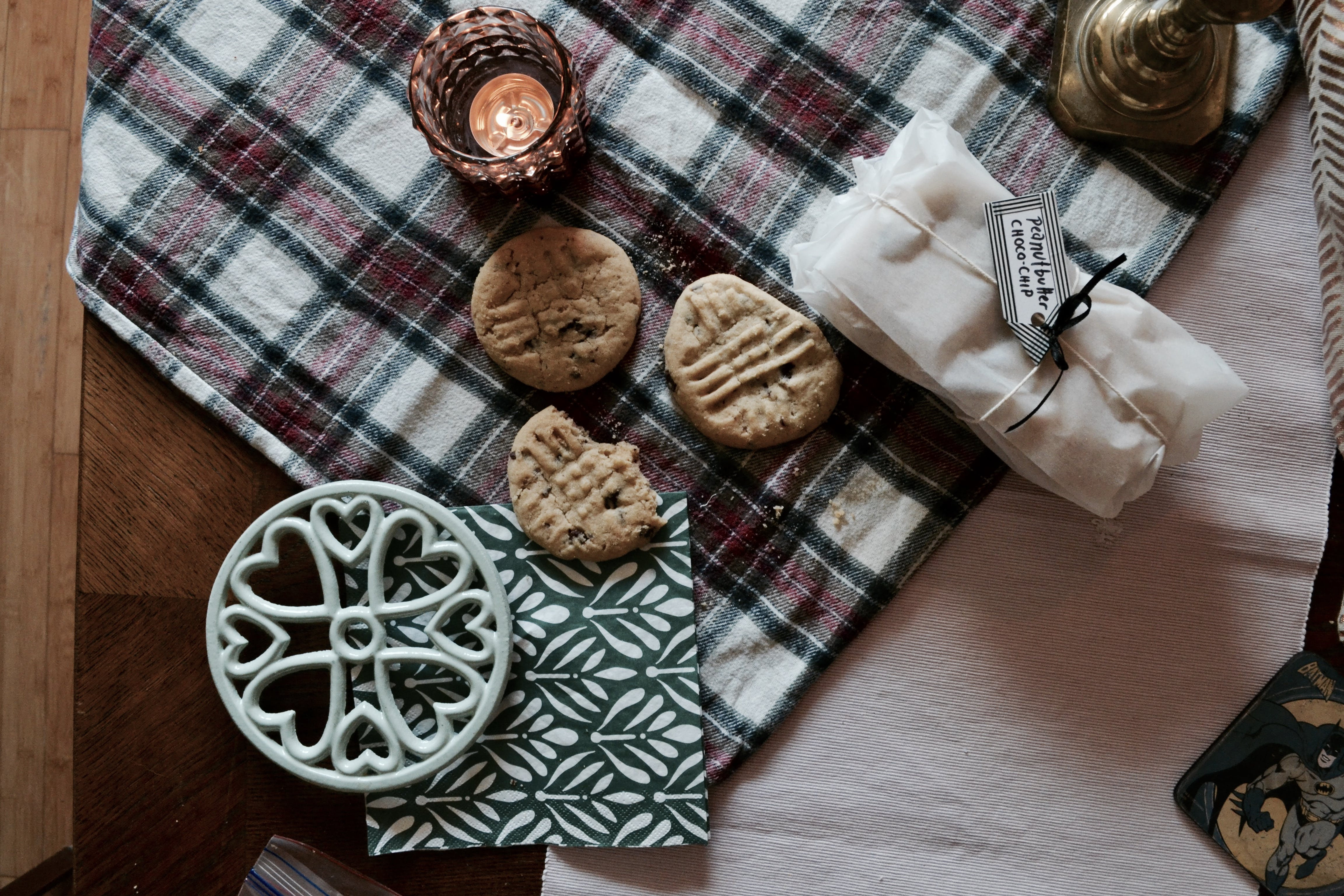 Cookies on a Plaid Mat