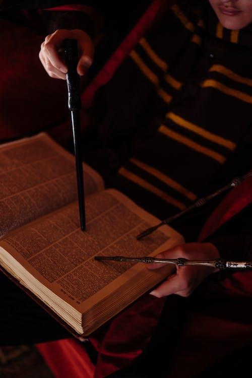 Photo of Book and Magic Wand