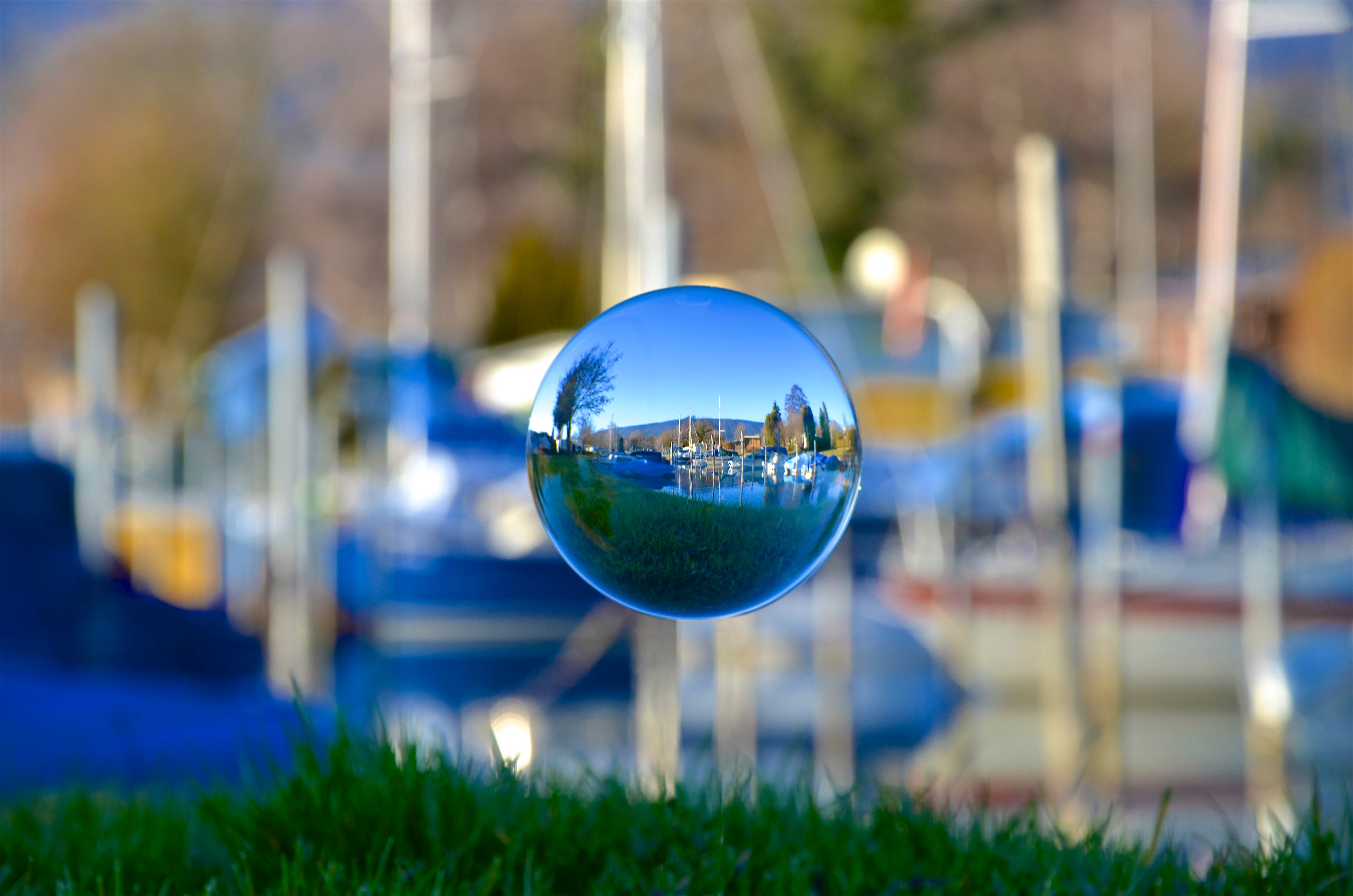 Close-Up Photography of Crystal Ball