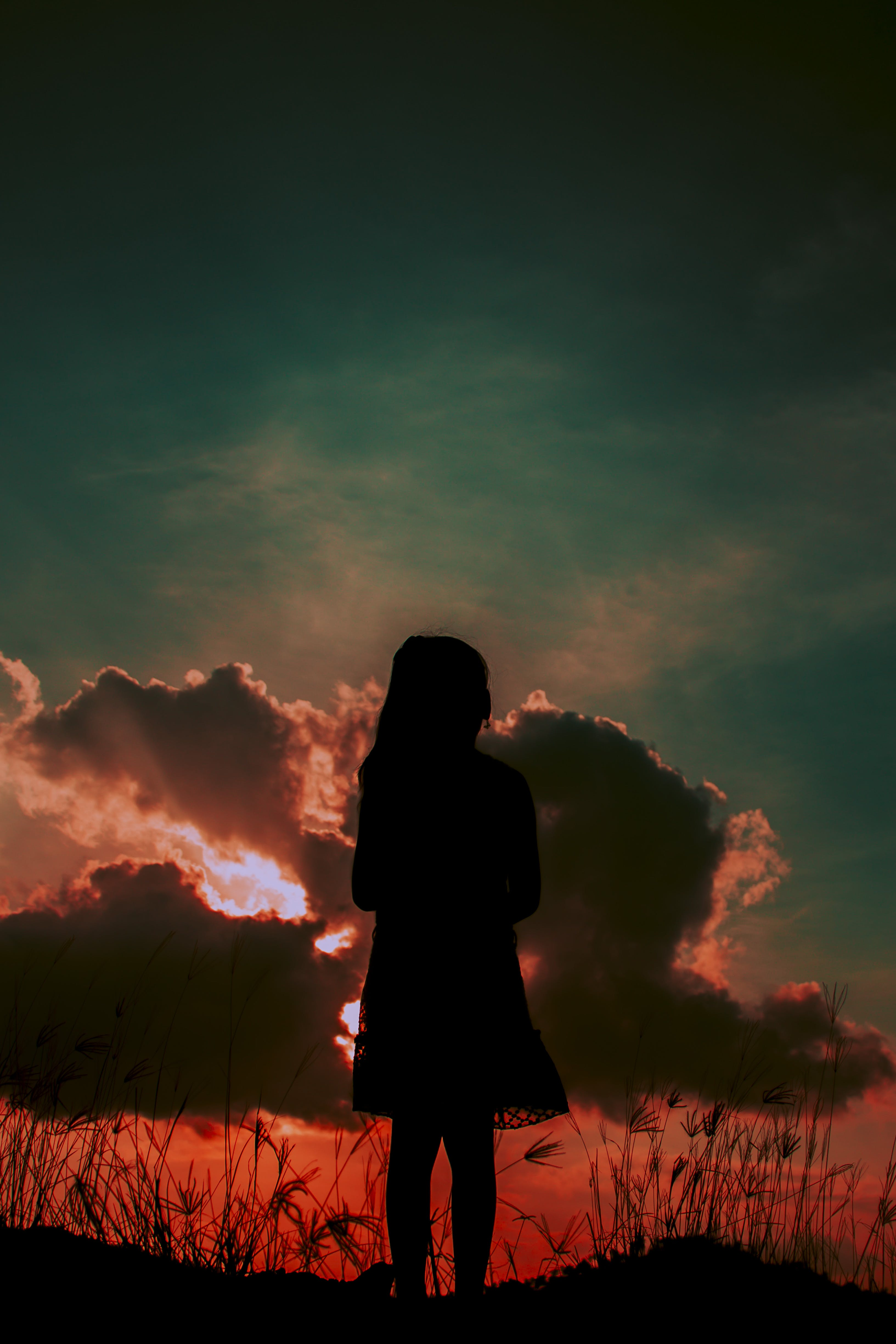 Free stock photo of Broken Wing, clouds, girl, wing