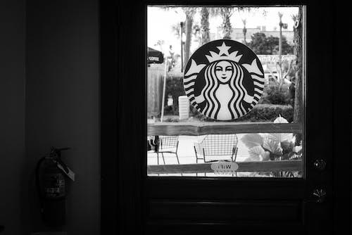 Free stock photo of black amp white, coffea, starbucks
