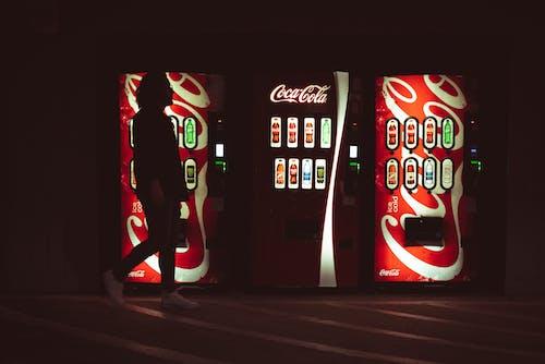 Free stock photo of backlight, bright light, coca cola