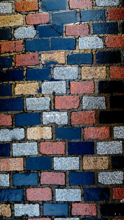 Free stock photo of blue, brick, cobblestone
