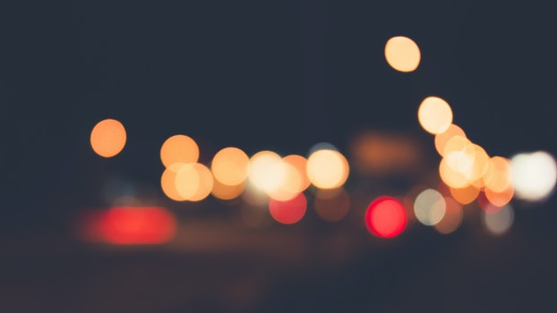 Free stock photo of traffic, lights, night, blur