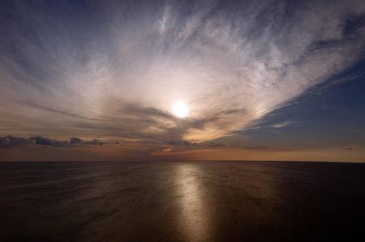 Free stock photo of ocean, cloud
