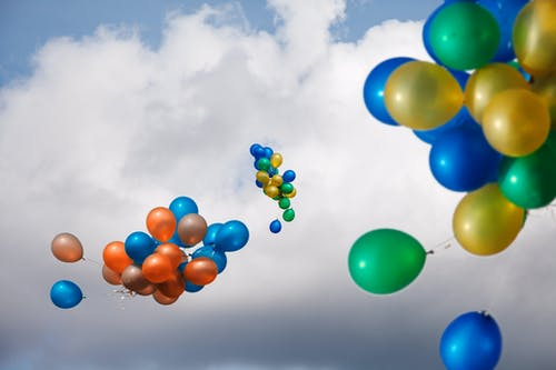 Kostenloses Stock Foto zu ballons, bunt, farben