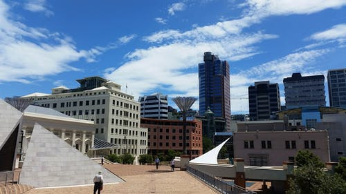 Free stock photo of blue sky, city, city center, city life
