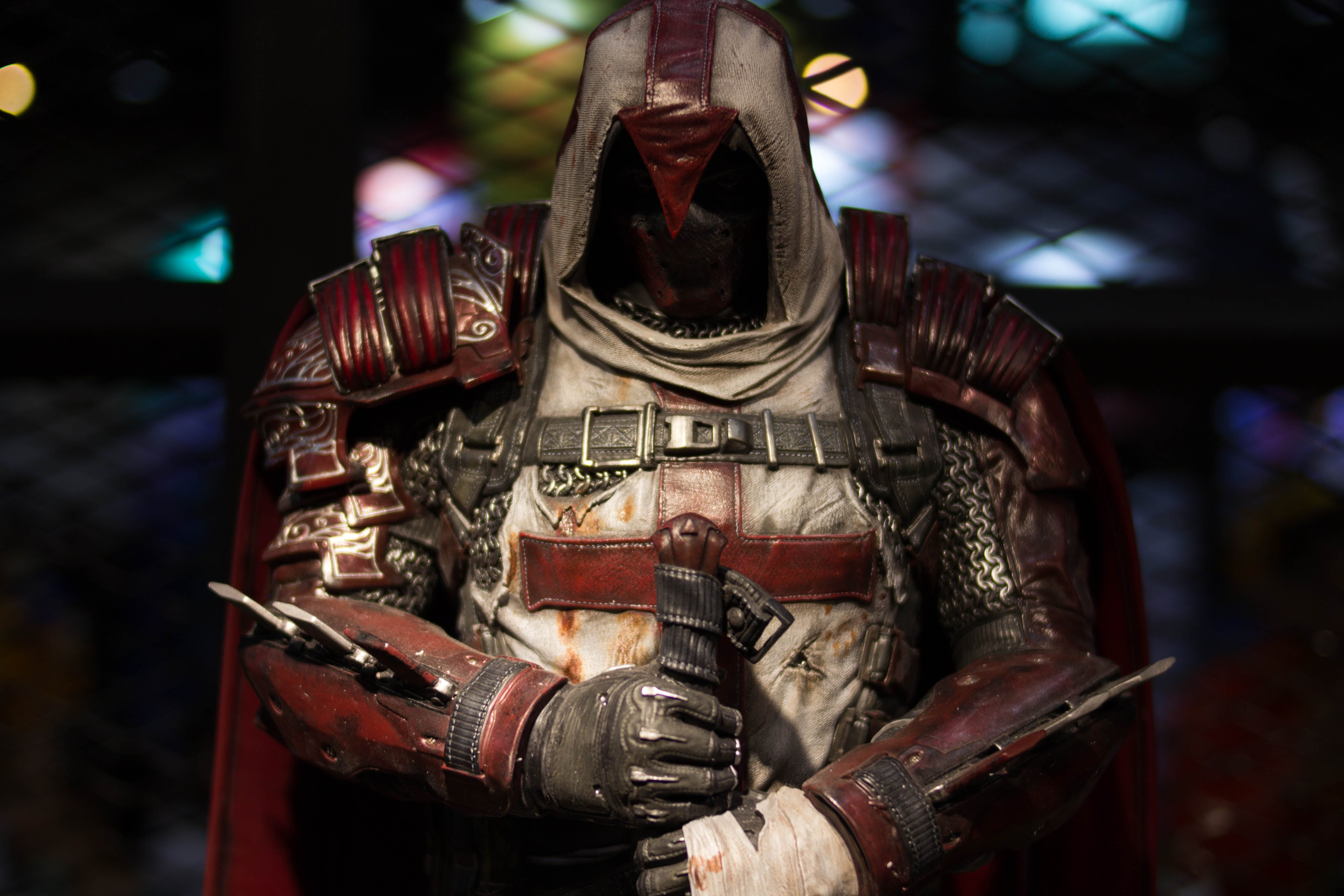 Free stock photo of action figure, arkham, armor, azrael