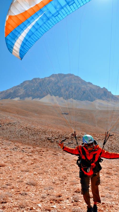 Paraglider Landed on Land