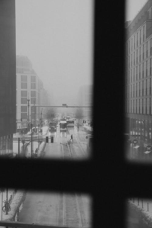 คลังภาพถ่ายฟรี ของ กลางแจ้ง, การสะท้อน, ขาวดำ