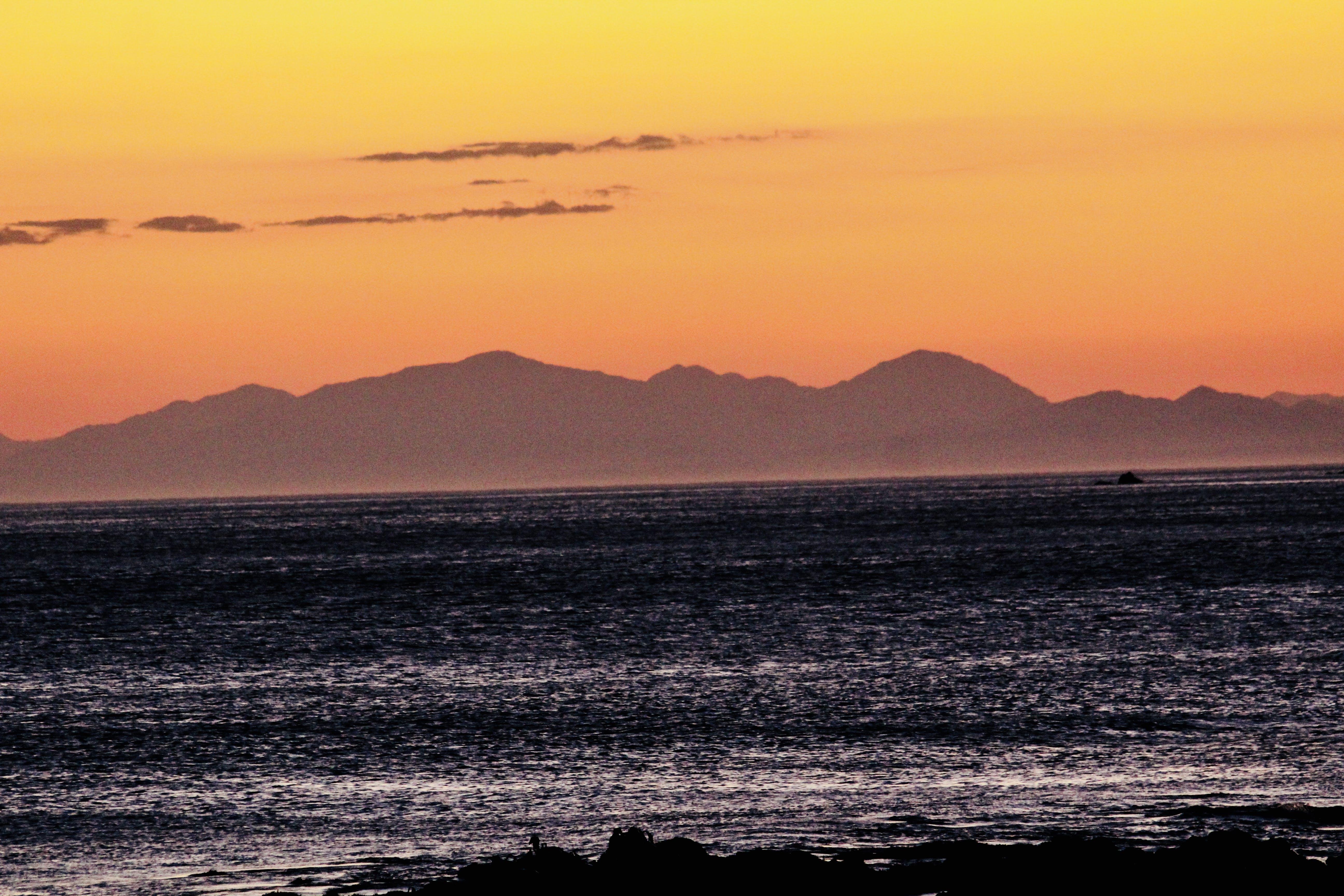 Free stock photo of golden sunset