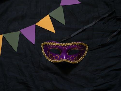 Festival Mask  on Black Textile