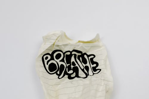 White and Black Plastic Bag