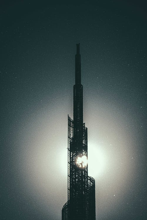 ay, bina, çelik içeren Ücretsiz stok fotoğraf