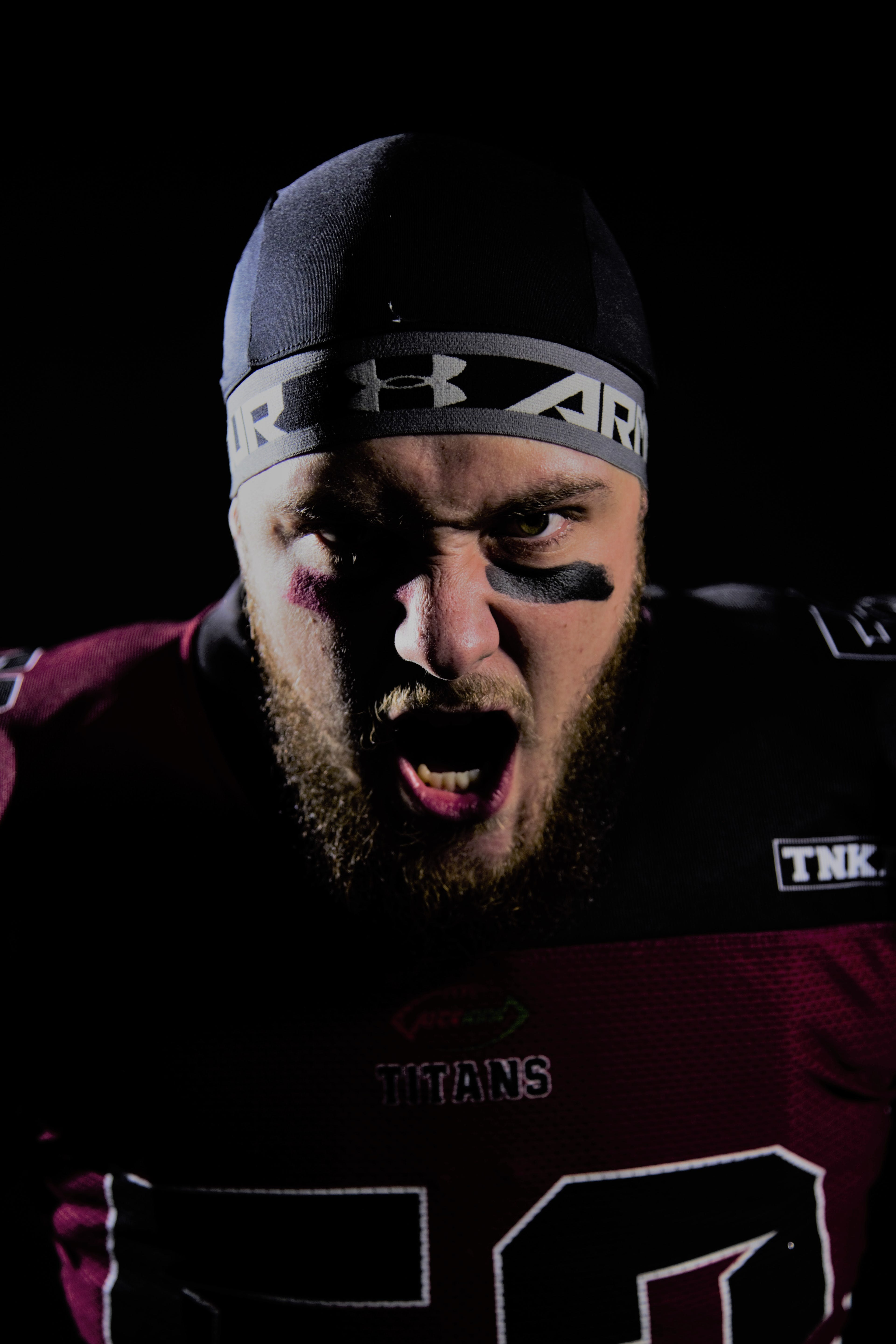 Free stock photo of American football, american football player, angry, emotion