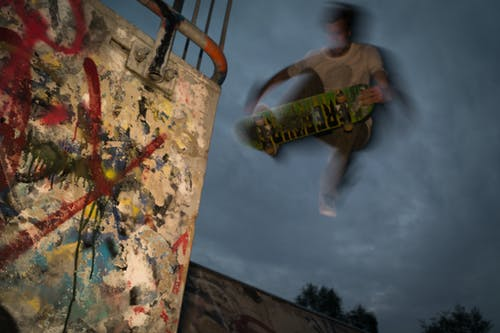 Man Playing Skateboard Edited Photo