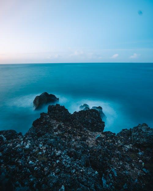 Free stock photo of blue ocean, blue sea, cliff rocks