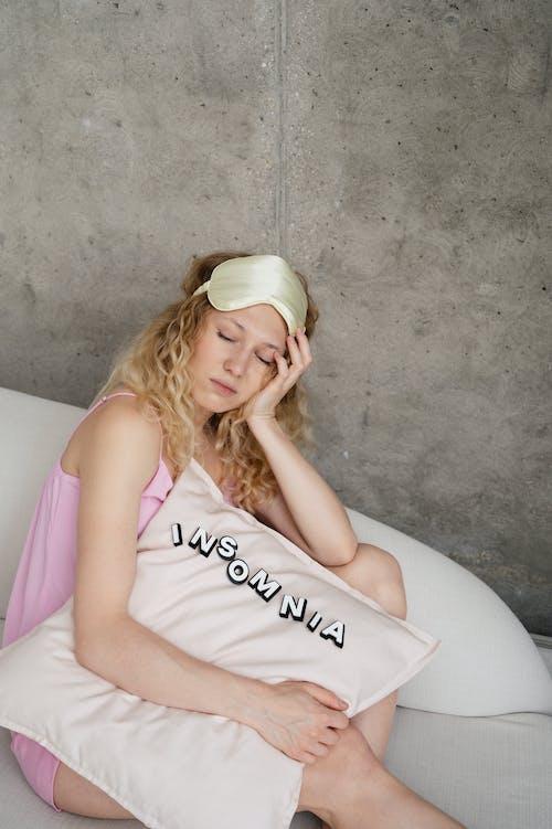 Woman Sleeping while Sitting
