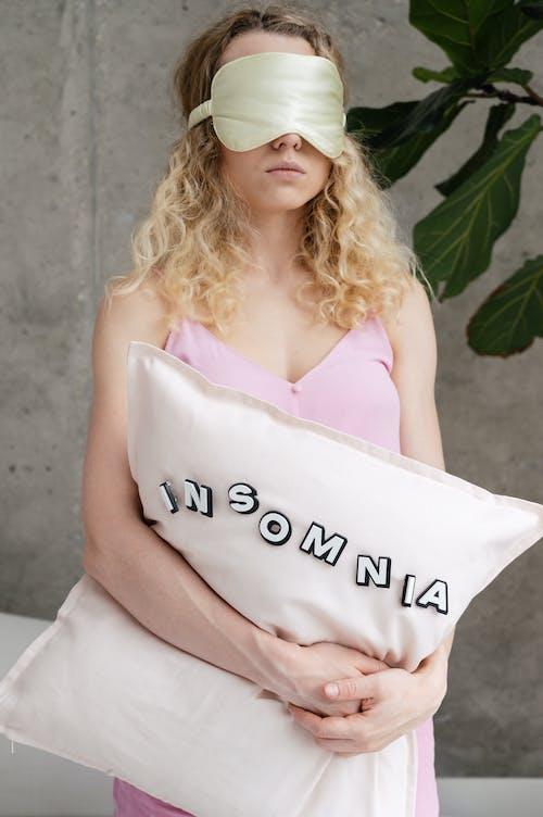 Woman in Pink Sleepwear
