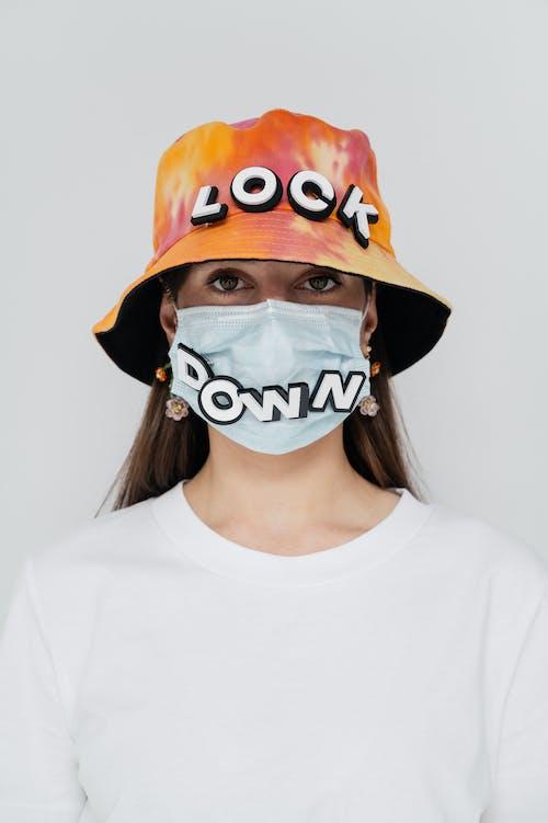 Woman Wearing a Bucket Hat