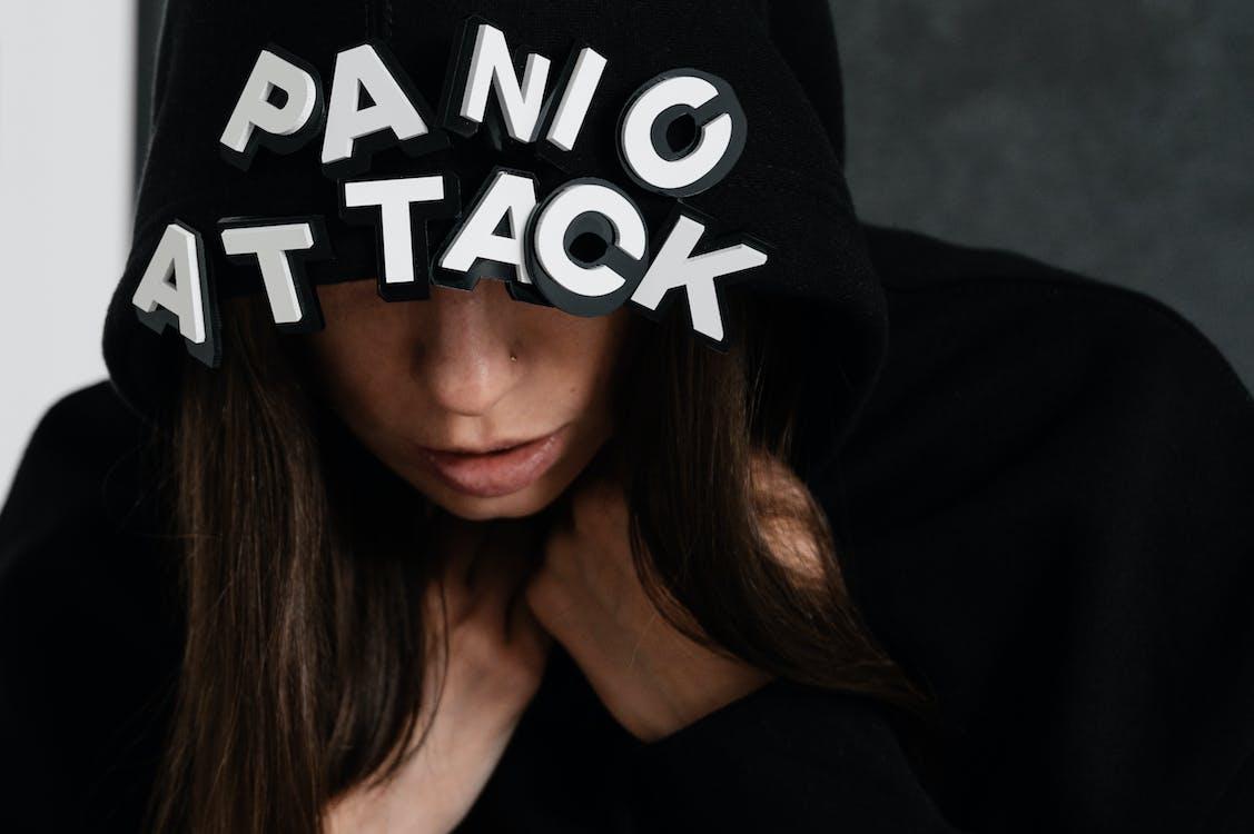 Woman Wearing A Black Hoodie