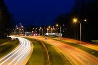 road, lights, long-exposure