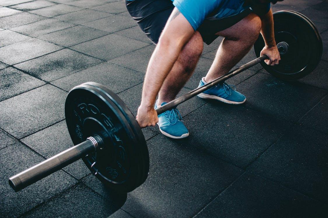 anstrengelse, bein, biceps