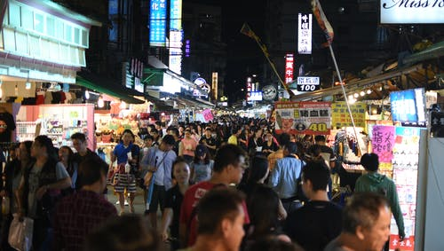 Free stock photo of 樂華夜市, Lehua Night Market, night market, people