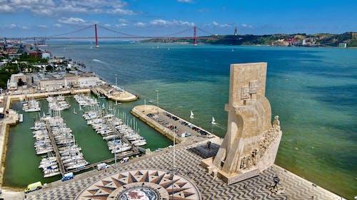 Darmowe zdjęcie z galerii z dron, lizbona, morze