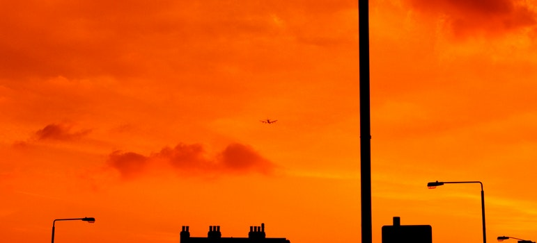 Free stock photo of sky, orange, airplane