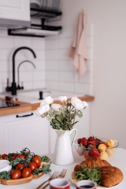 과일, 꽃, 꽃병의 무료 스톡 사진