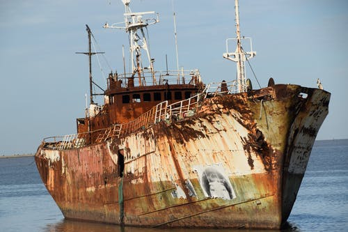 A Dilapidated Shipwreck