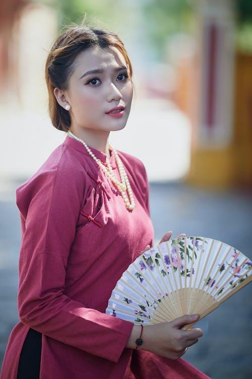 亞洲, 传统服装, 咖啡色頭髮的女人 的 免费素材图片