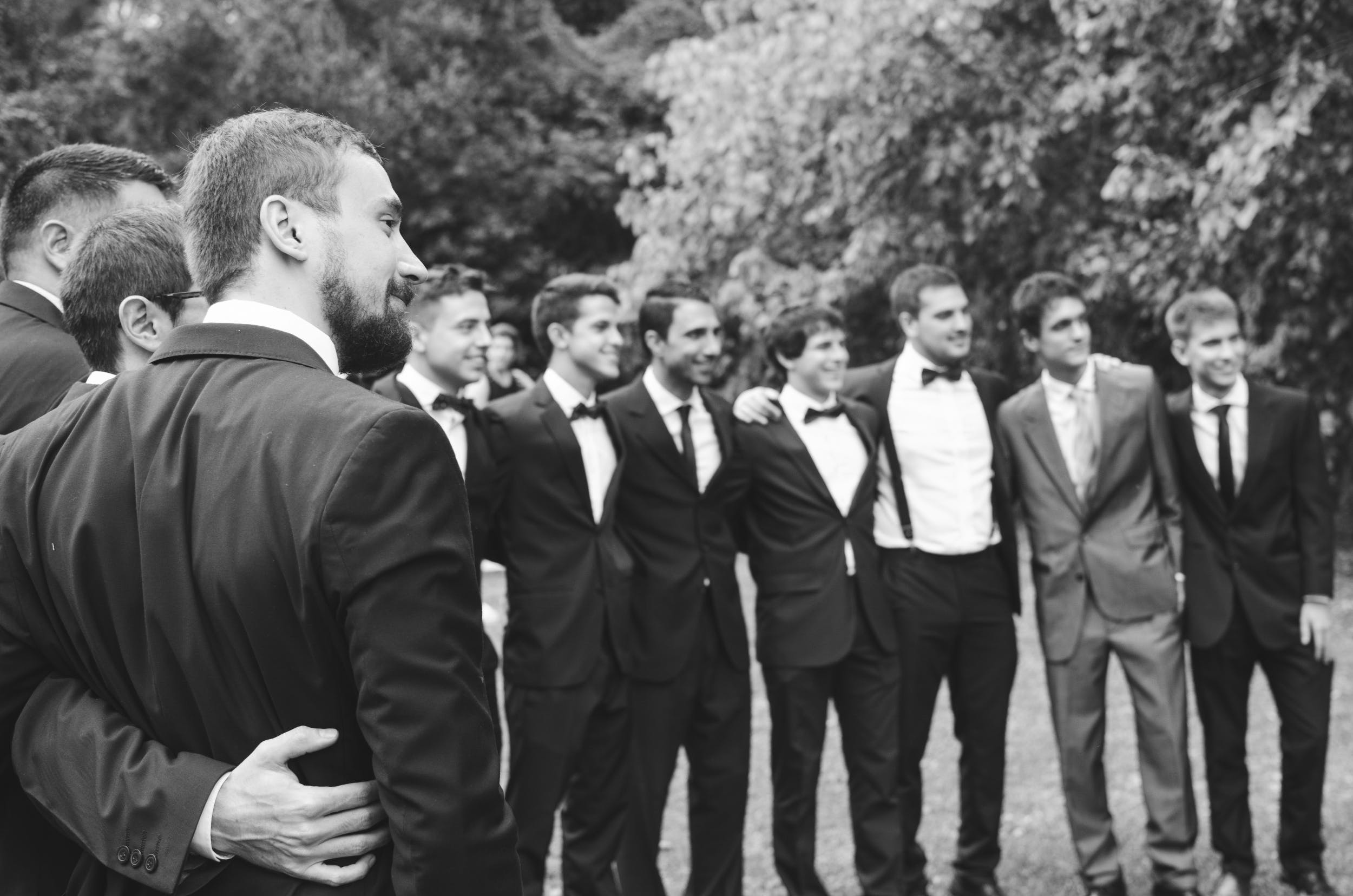 Free stock photo of suit, friends, men, smile