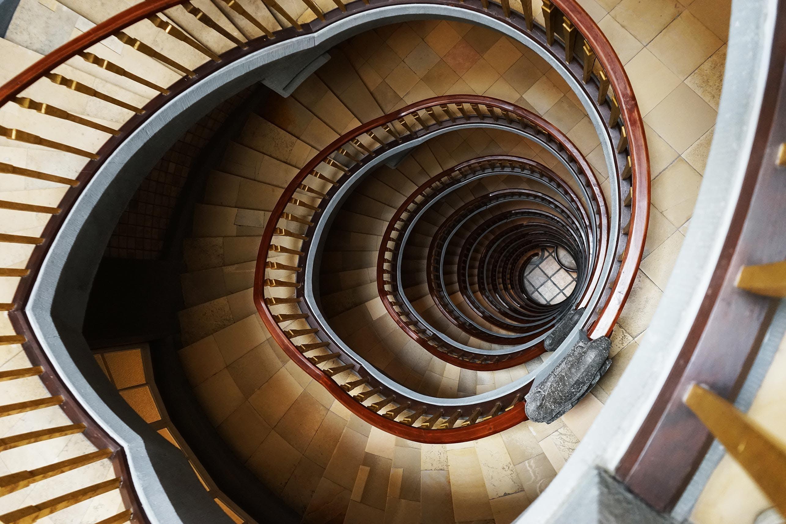 Brown Marble Stairs