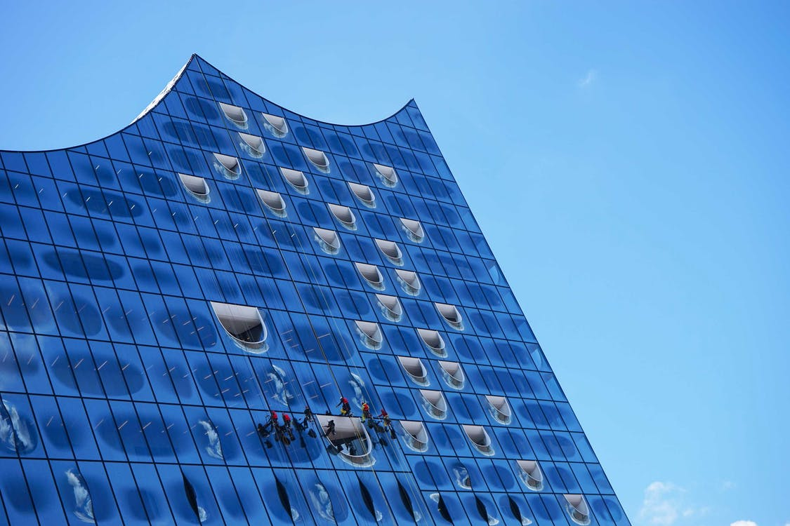 amburgo, architettura, cielo azzurro