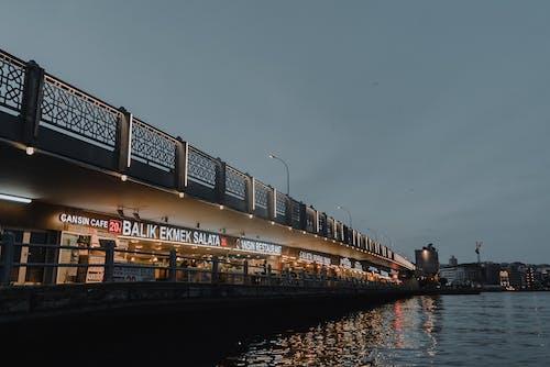 Brown and White Bridge over River