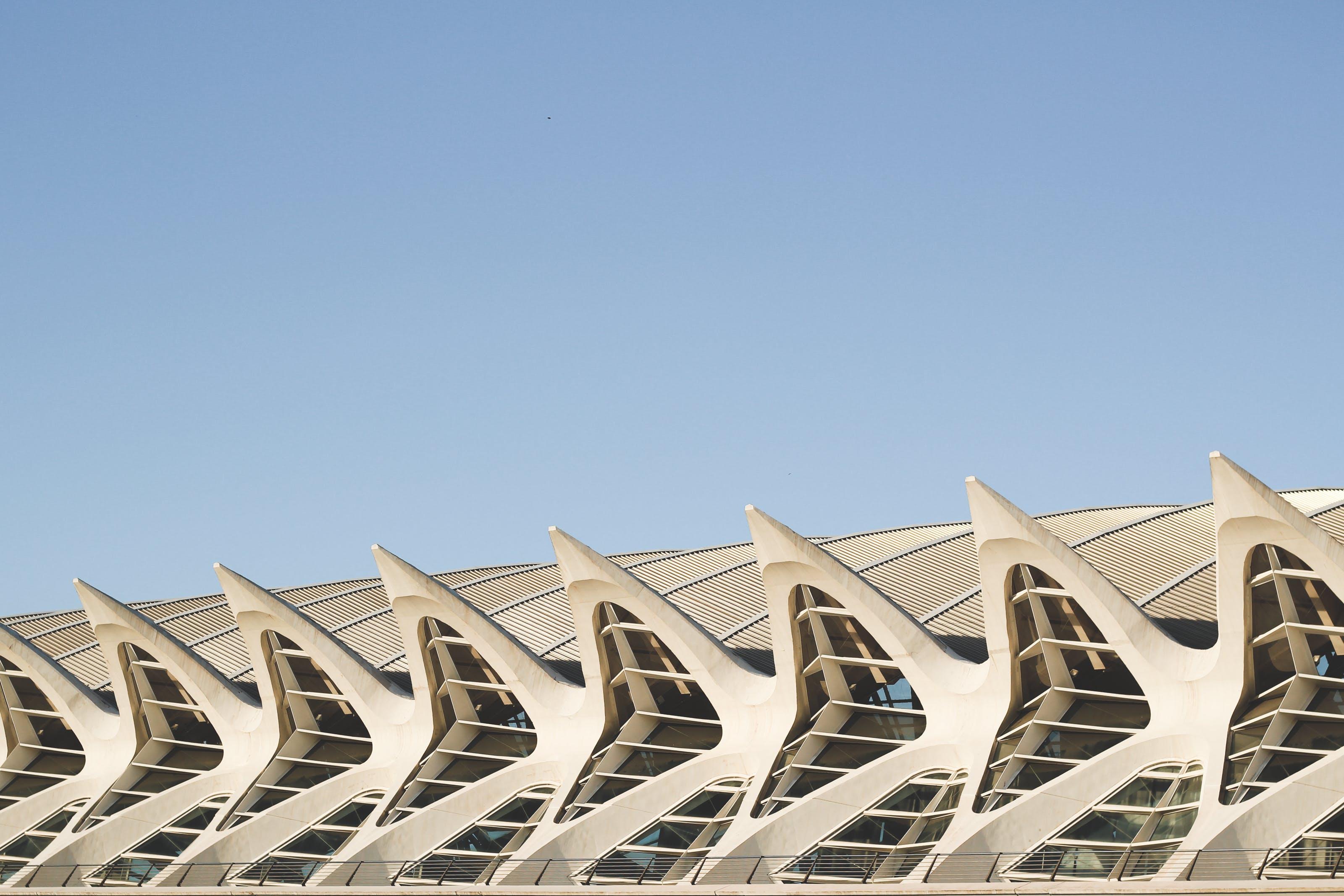 Architectural Photo of White Concrete Building