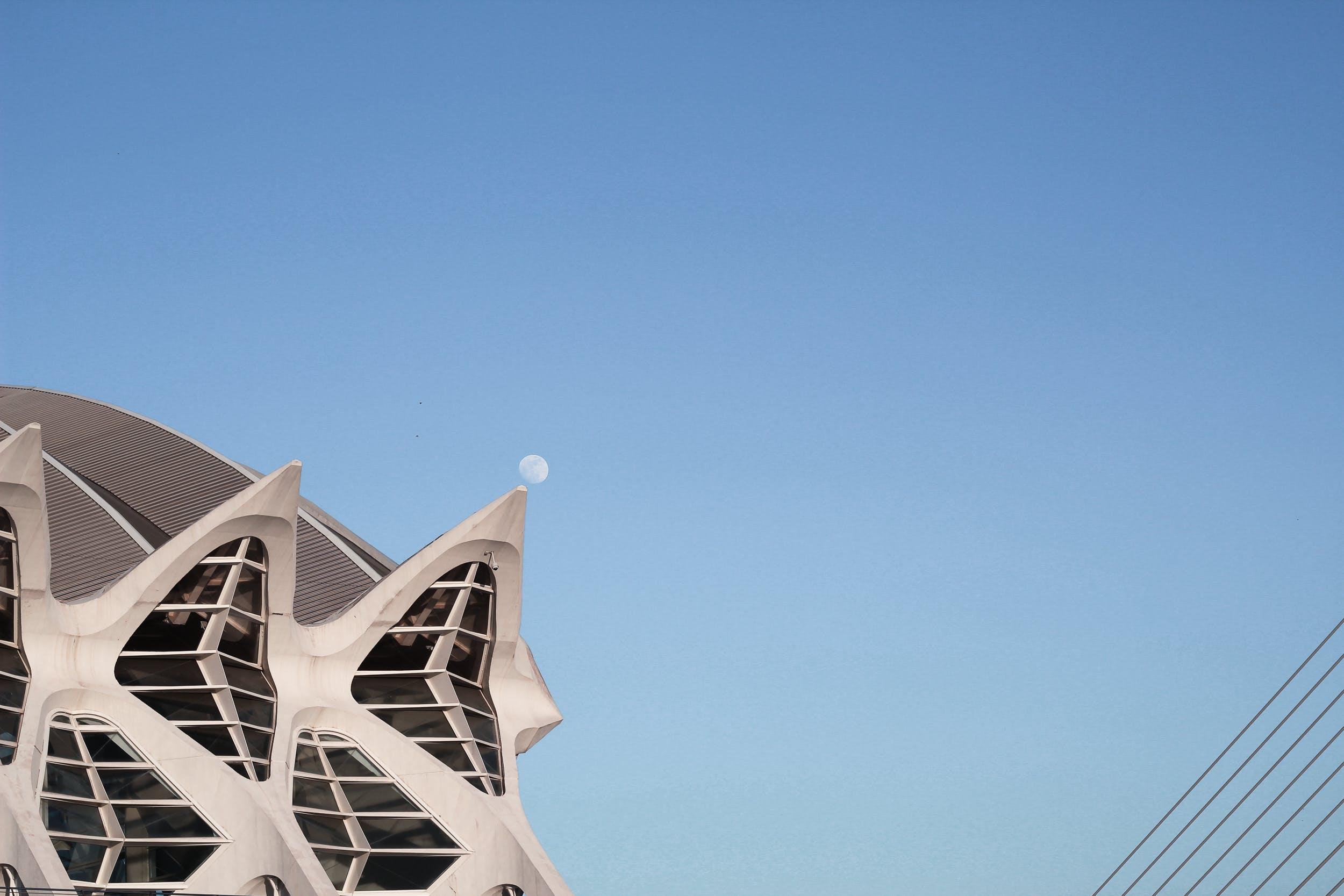 Gray and White Concrete Dome Building