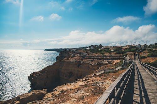Free stock photo of algarve, blue sky, cliff