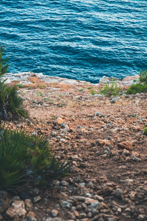 Brown Rocks Near Body of Water