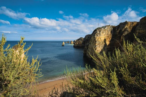 Free stock photo of algarve, beach, blue sky