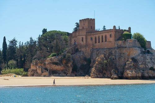 Free stock photo of beach, castle, fort