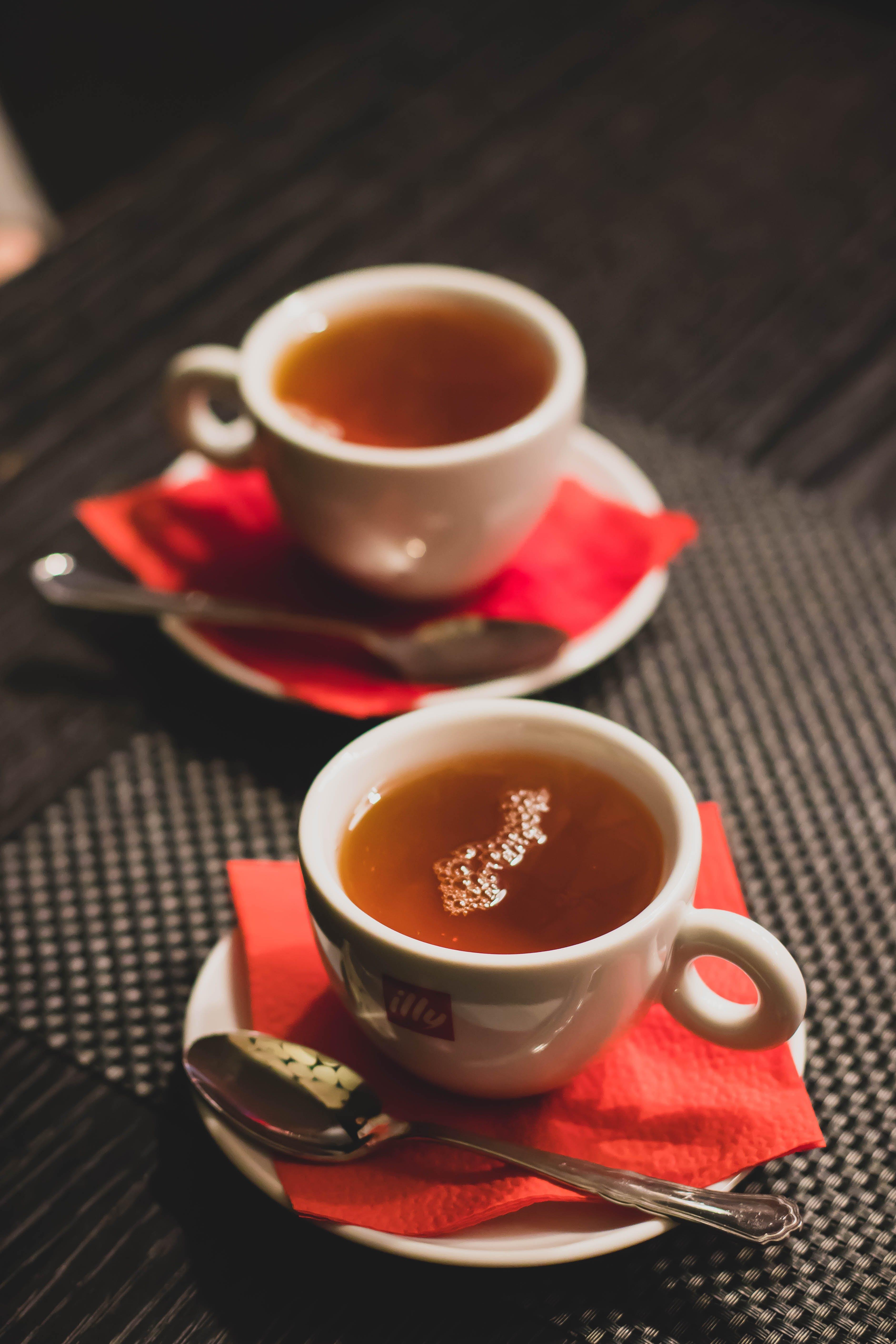 Cup Tea With Saucer and Teaspoon
