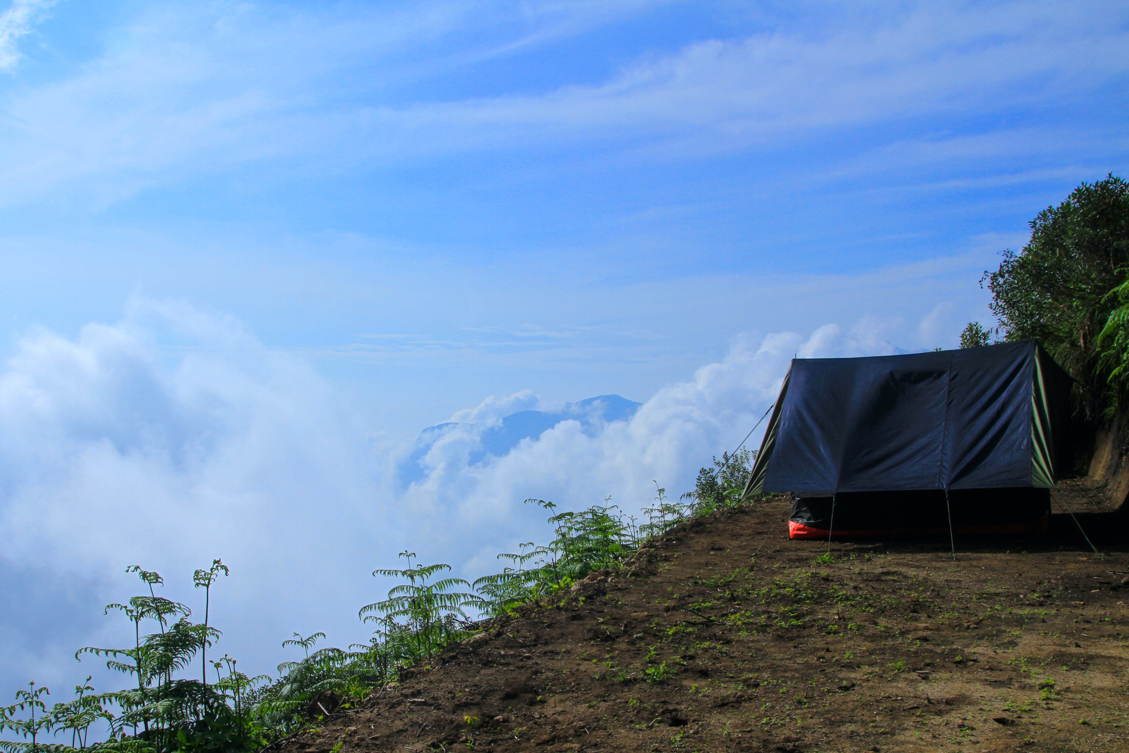 Free stock photo of abovetheclouds, beautiful, blue, camping