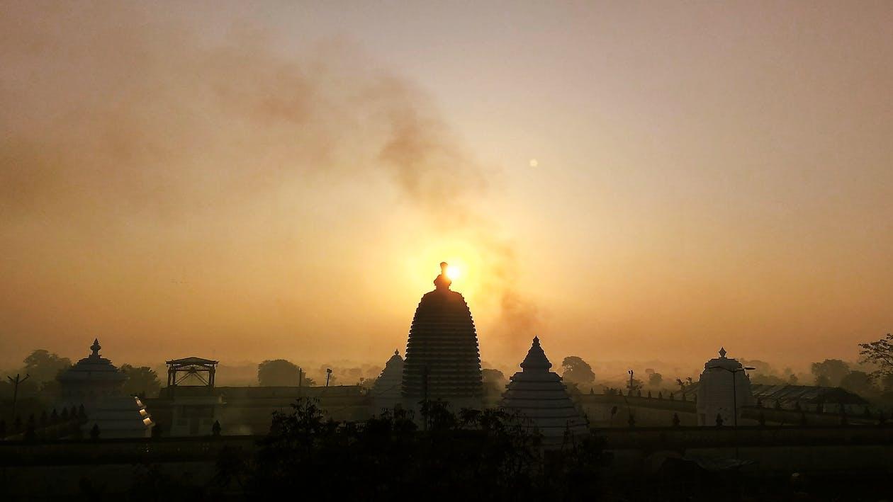 Imagine de stoc gratuită din răsărit de soare, templu
