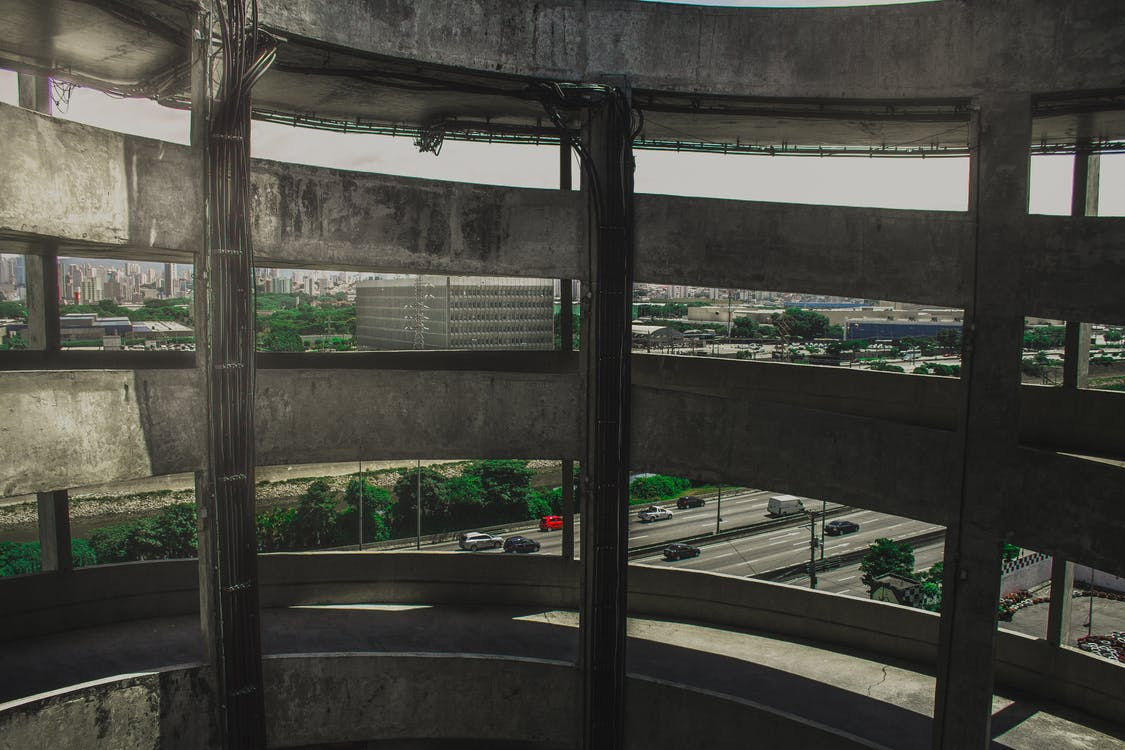 architektur, autobahn, automobil