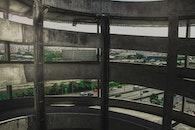Gray Metal Frame Inside Building